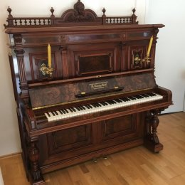 Grotrian-Steinweg 138 Stilinstrument von 1889 in Root Walnut glossy